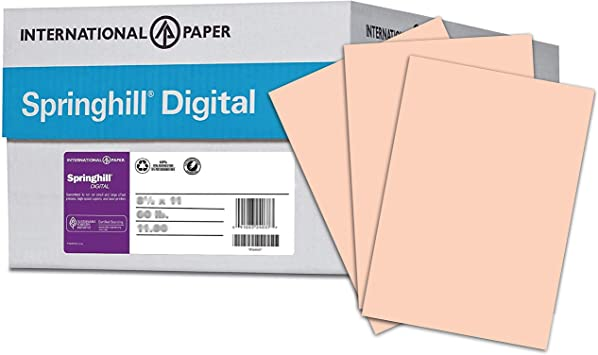 82441 Renewed 250 Sheets Pastel Pink 67 lb 8.5 x 11 Inches Wausau Vellum Bristol Cardstock