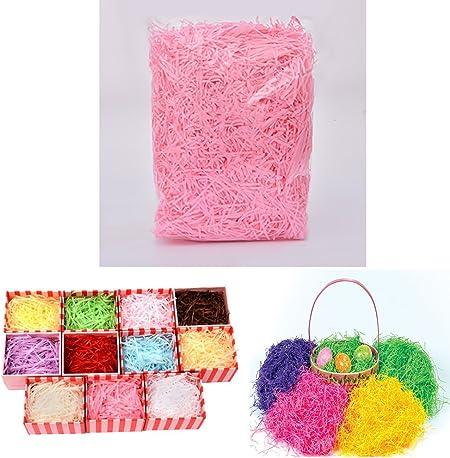 Youmu papel Shred relleno para cajas de regalo/cesta relleno/DIY artesanía decoración 9 Color rosa: Amazon.es: Hogar