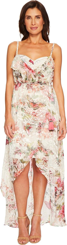 Hale Bob Womens Petal Pusher Satin Burnout Wrap Dress by Hale Bob