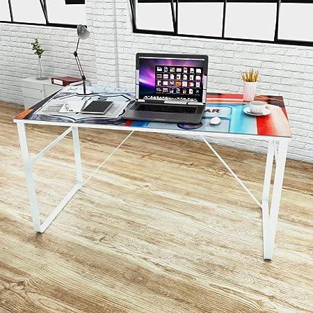 vidaXL Scrivania Rettangolare Modello Unico Scrittoio Tavolo Lavoro Porta PC