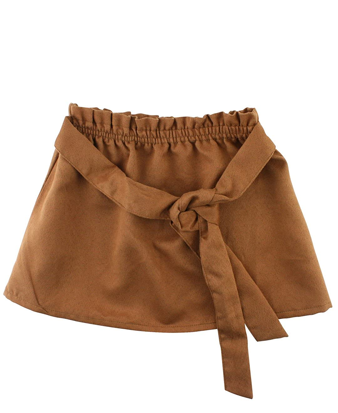 RuffleButts Baby//Toddler Girls Paperbag Elastic Waist Skirt w//Tie SKDYYXX-PAPR-SC-BABY