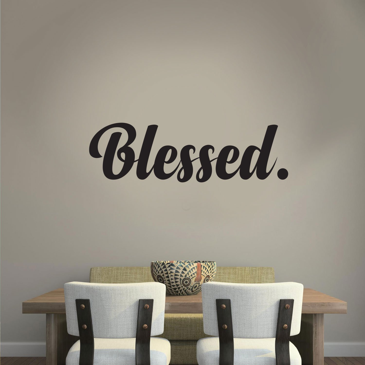 Religious Quotes | Amazon Com Blessed Cursive Vinyl Lettering Inspirational
