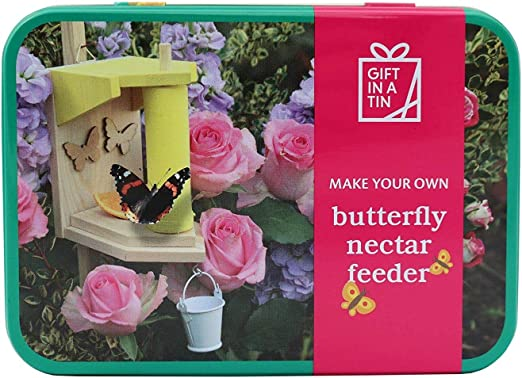 Regalo en una lata para hacer tu propio alimentador de mariposas.: Amazon.es: Jardín