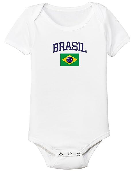 Amazon Com Nobrand Brasil Bodysuit Brazil Soccer Infant Baby Girls