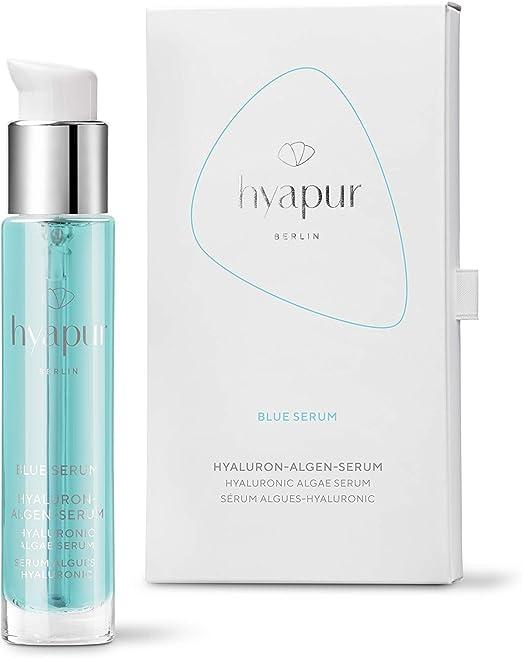 hyapur ® - Suero azul de 15 ml para piel radiante, con ácido hialurónico y extractos de algas para cara, cuello y escote - de la serie de algas ...