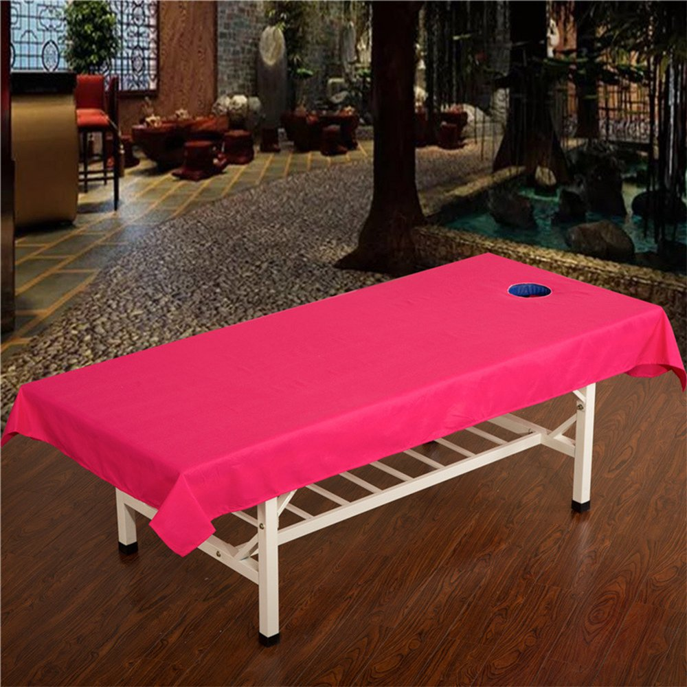 DAYOLY Standard Cotton Massage Cure Bed Cover Table Sheets with Face Breath Hole, Sanitary Healty Beauty Salon Spa Sheet, Cosmetic Bed Sheet Cover Couch Cover Bed Table Cover Waterproof 240*120CM (Green)