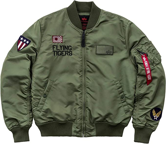 Alpha Industries MA-1 VF Flying Tigers Chaqueta bomber sage ...