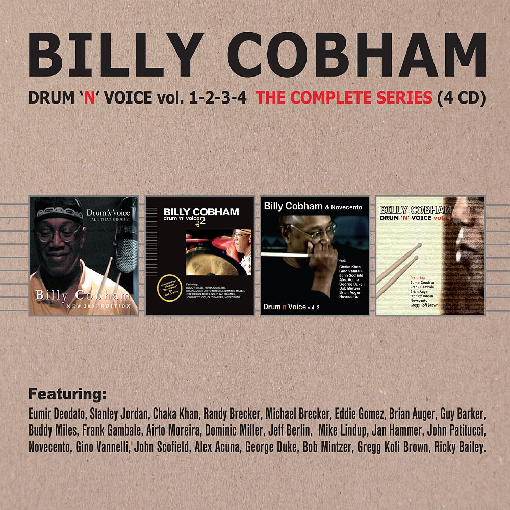 CD : Billy Cobham - Drum N Voice Vol 1-4: Complete Series (United Kingdom - Import, 4 Disc)