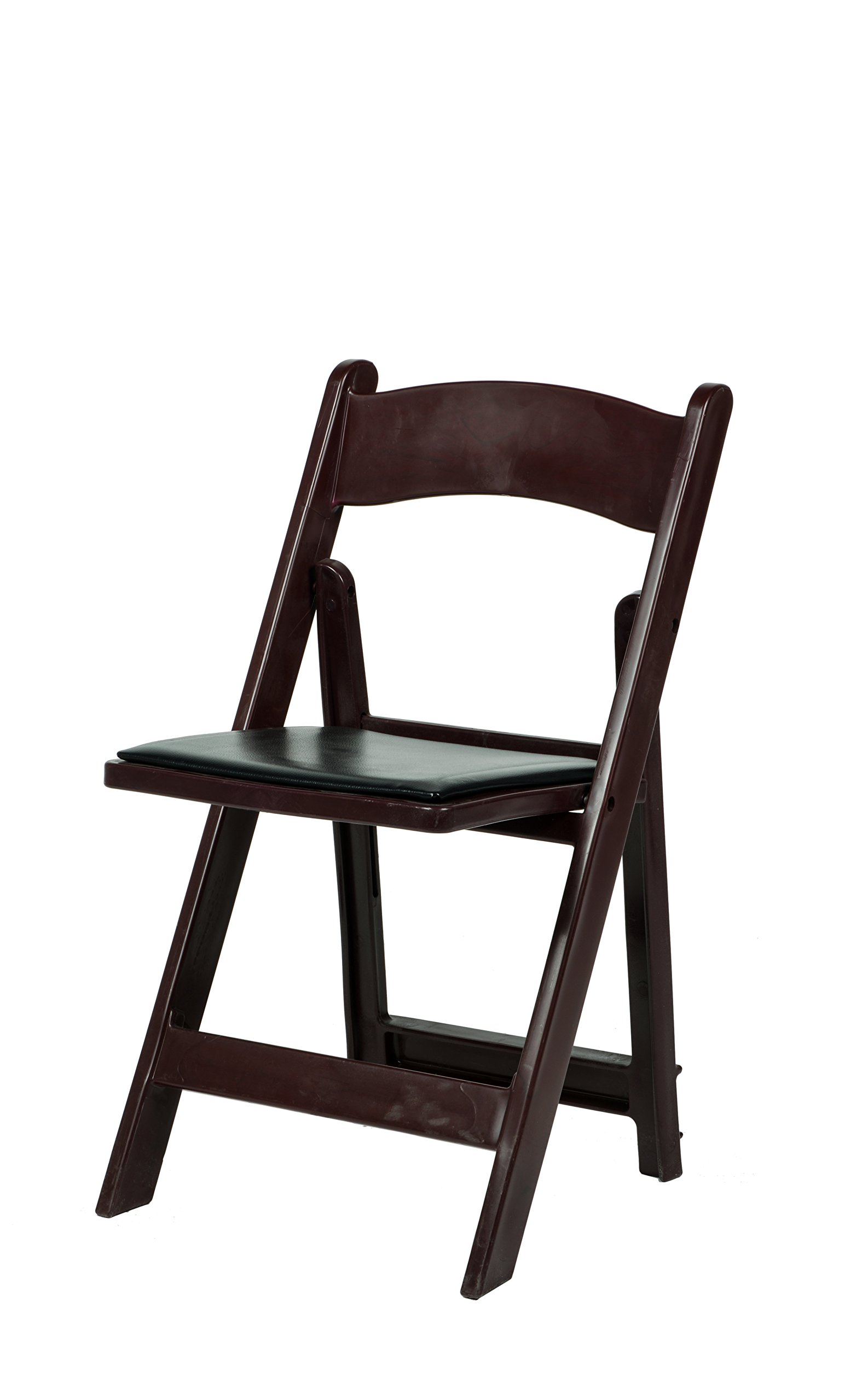 Commercial Seating Products R-101-RM MAX Red Mahogany Resin Folding Chair,