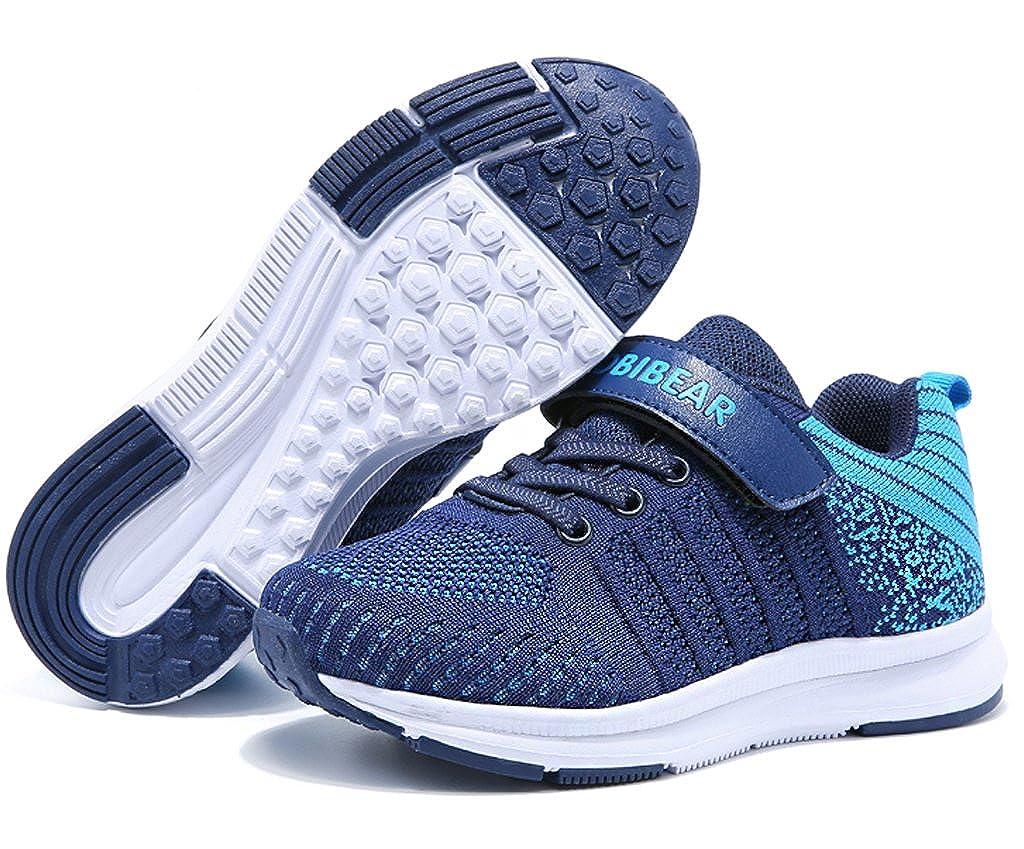 Gaatpot Unisex-Kinder Sneakers M/ädchen Jungen Turnschuhe Low-Top Freizeit Running Sportschuhe Outdoor Laufschuhe Blau 27 EU = 28 CN