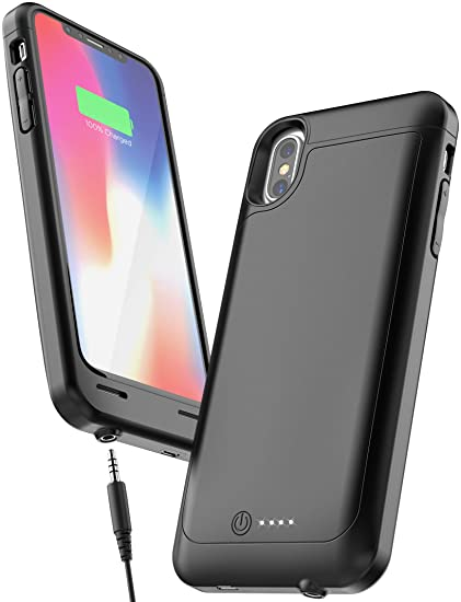 new arrival 6900a 0230c iPhone X Battery Case with 3.5mm Headphone Jack - AudioMod (Smart Power  Reserve) Slim Charging Case (4600mAh High Capacity)