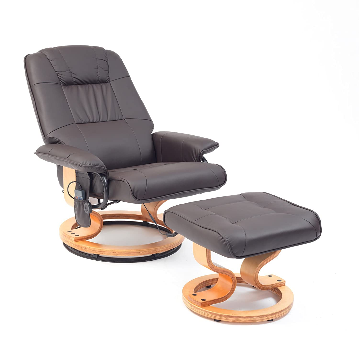 Heartwood Heat and Massage Chair with Free Stool Brown Amazon