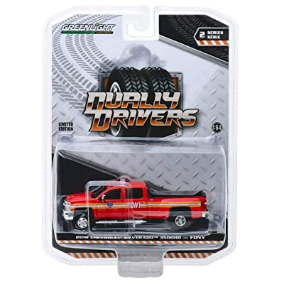 Greenlight 46020-A Dually Drivers Series 2-2020 Chevrolet Silverado 3500 Dually FDNY Fire Department City of New York 1:64 Scale: Toys & Games