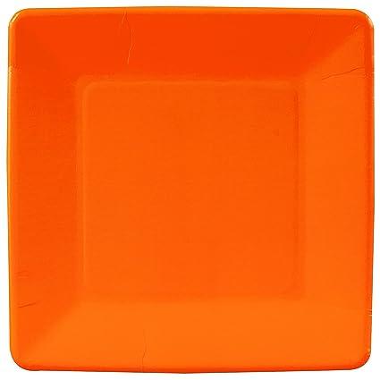 Amazon.com   Creative Converting - Sunkissed Orange (Orange) Square ...