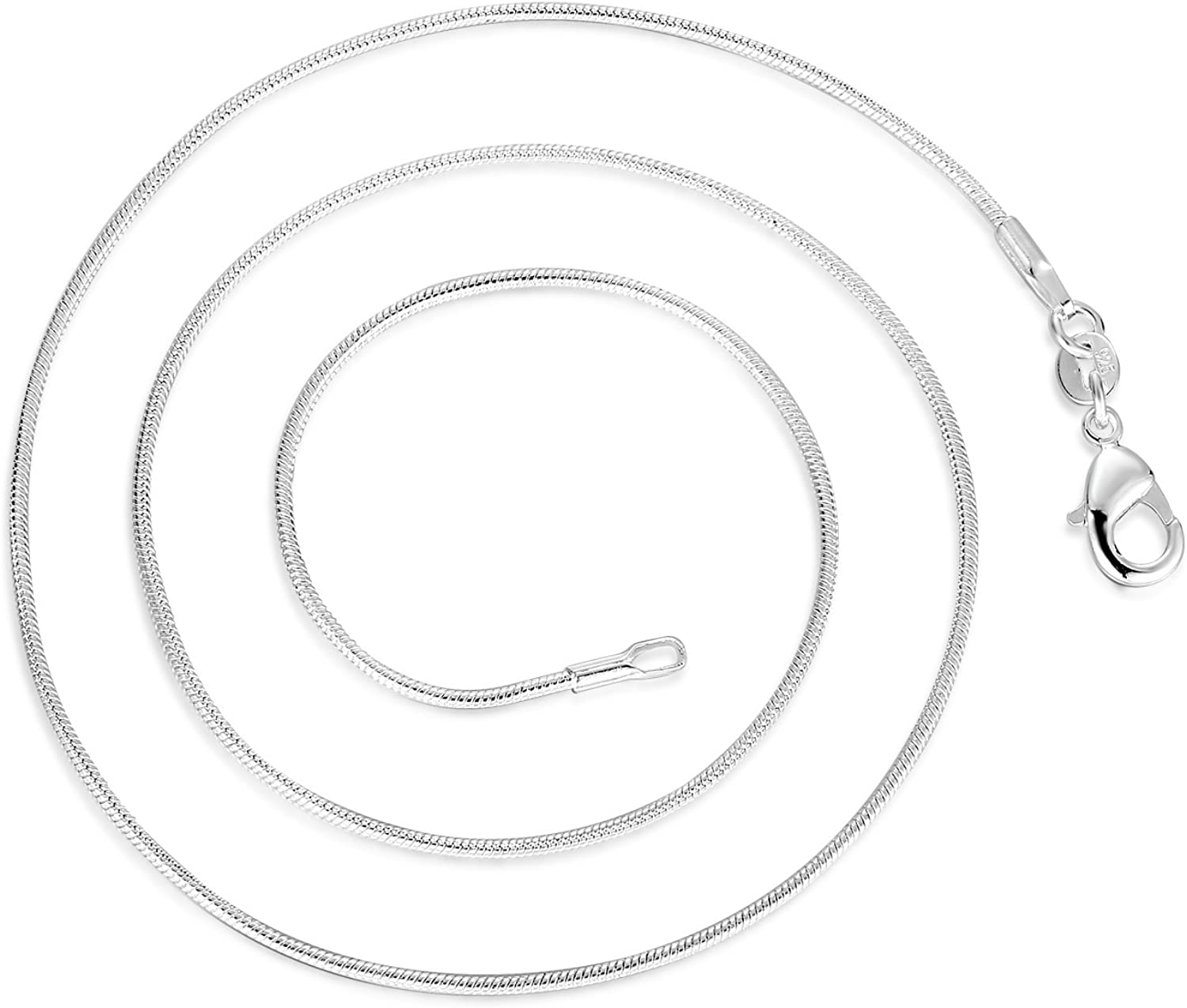 22 inch Snake Chain SILVER PLATED 1.2mm width