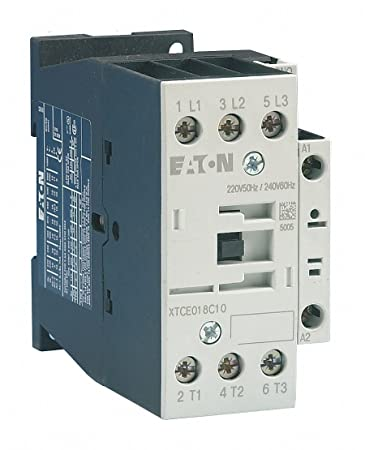 amazon com eaton xtce018c10 3 pole contactor rated at 18 amps with 3 Phase Meter Wiring eaton xtce018c10 3 pole contactor rated at 18 amps with a 220 240 volt ac