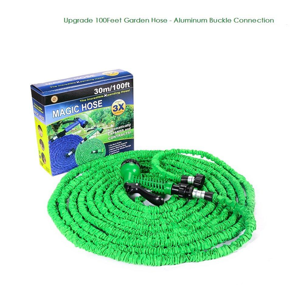 amazon com 100feet expandable garden hose multifunctional spray
