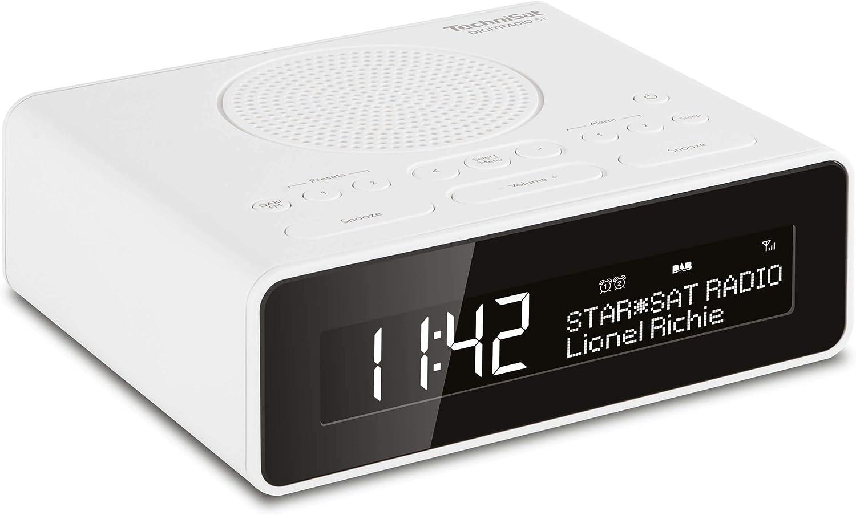 Technisat Digitradio 51 Dab Radiowecker Dab Ukw Uhrenradio Wecker Mit Zwei Einstellbaren Weckzeiten Snooze Funktion Sleeptimer Dimmbares Display Kopfhöreranschluss Weiß Heimkino Tv Video