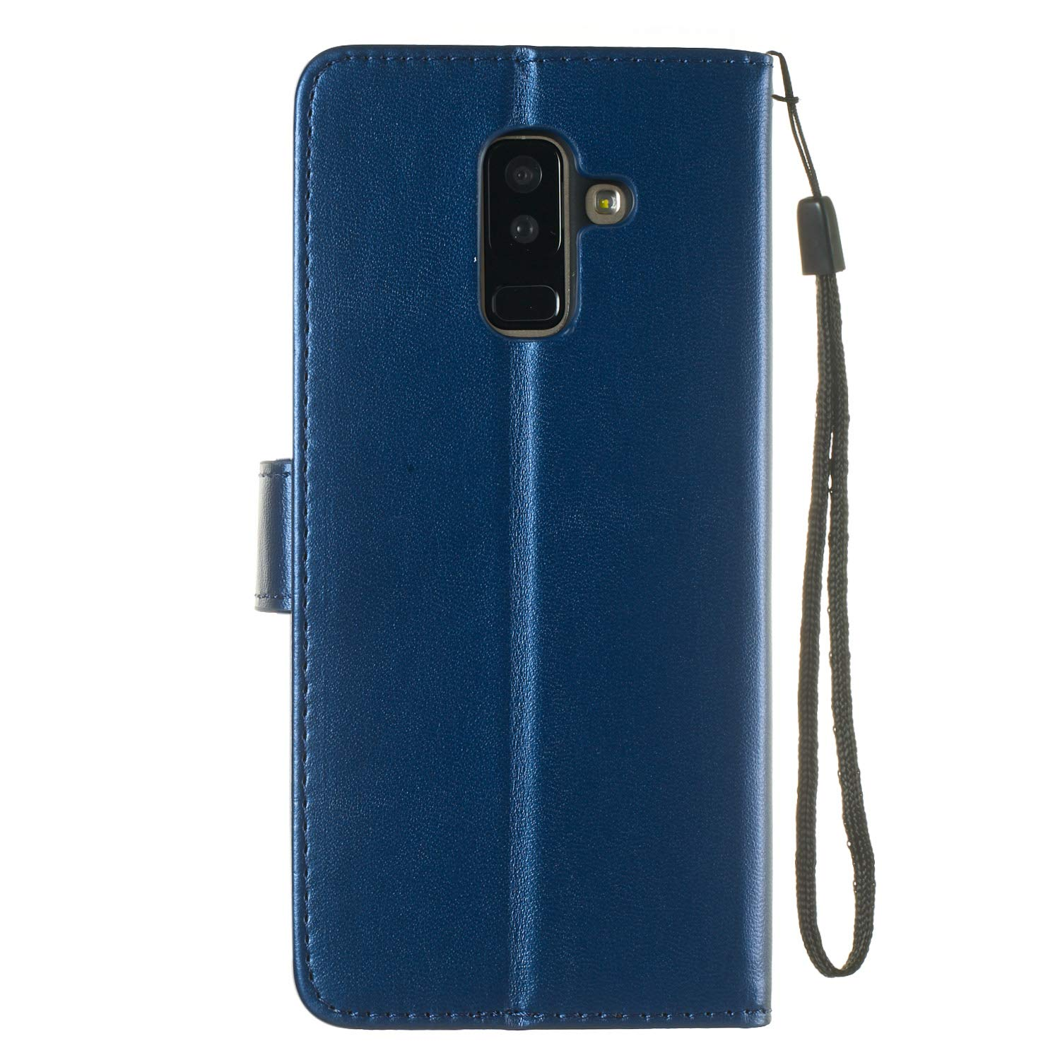2018 Lomogo Samsung Galaxy A6+ - LOYHU250057 L2 A6 Plus 2018 Case Leather Wallet Case with Kickstand Card Holder Shockproof Flip Case Cover for Galaxy A6+