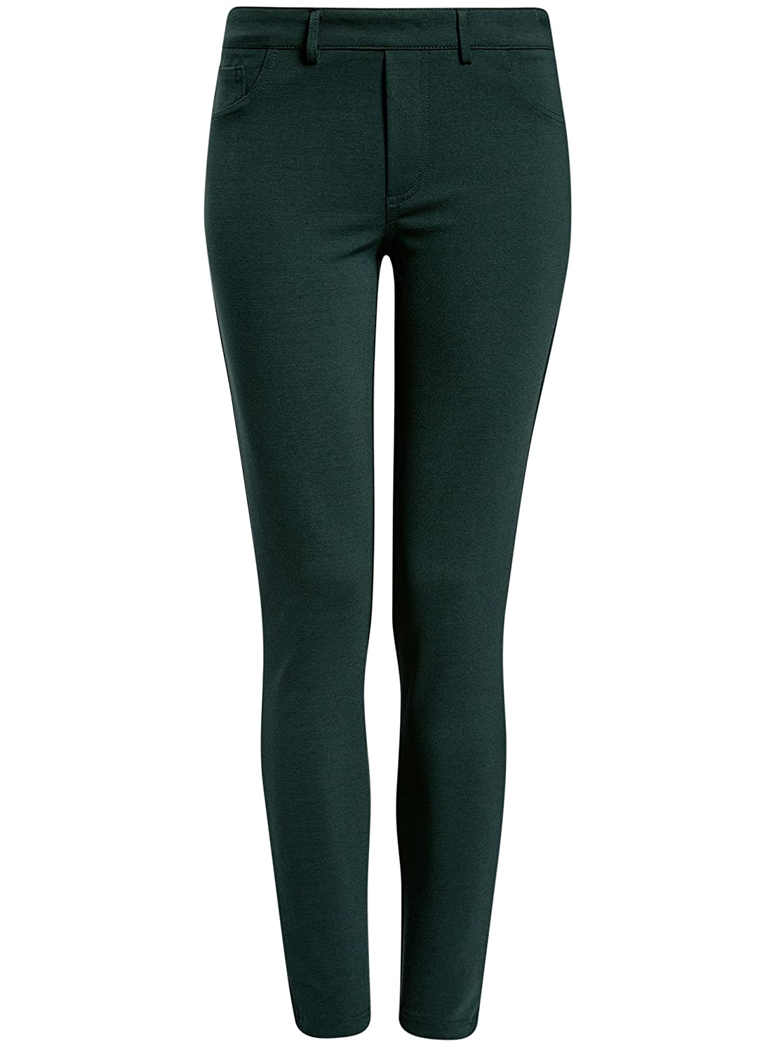 oodji Collection Donna Leggings in Maglia con Tasche