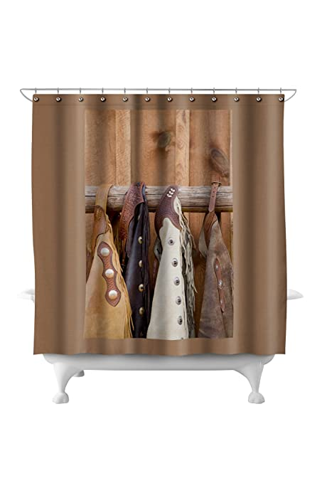 Amazon.com: Chaps (71x74 Polyester Shower Curtain): Home ...