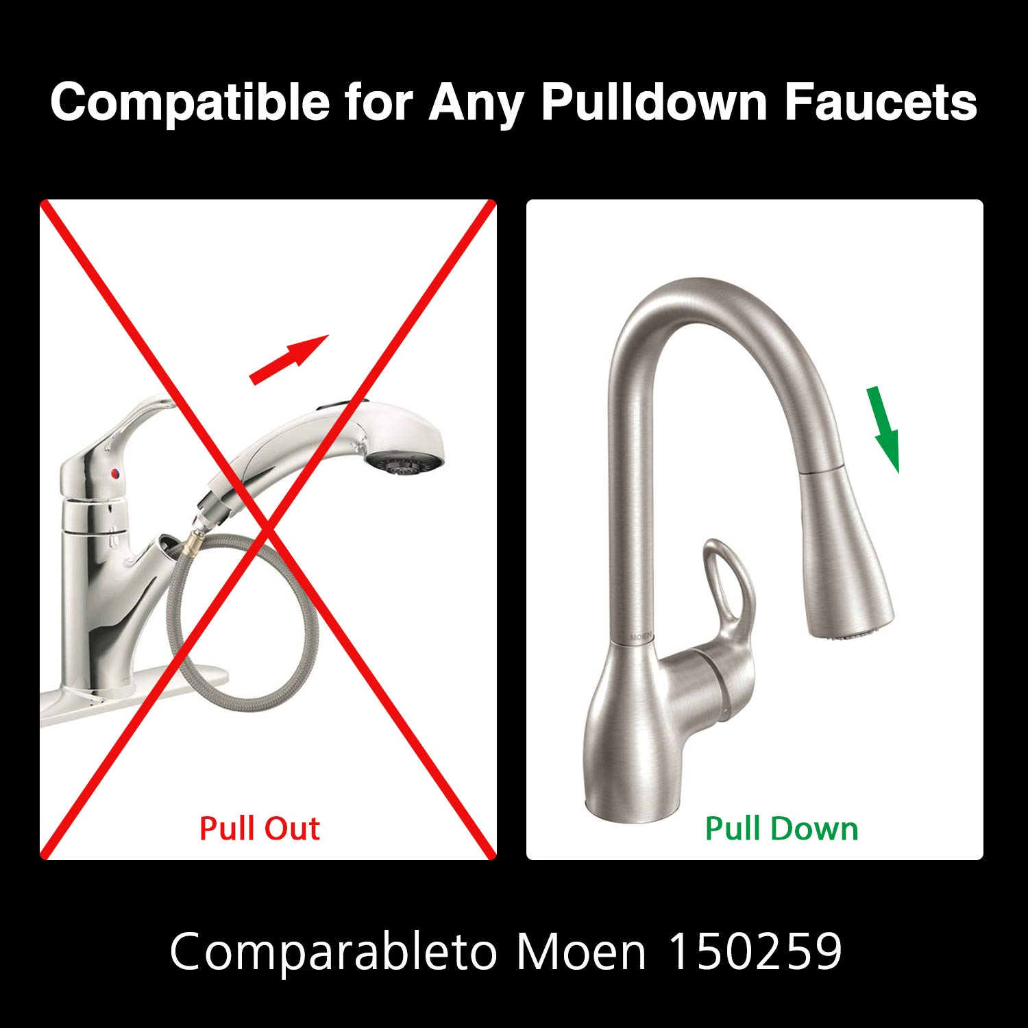 With The Hose Part Number 187108 Fits In Moen 150259 Replacement Hose Kit For Moen Pulldown Style Kitchen Faucets Kitchen Fixtures Tools Home Improvement Fcteutonia05 De