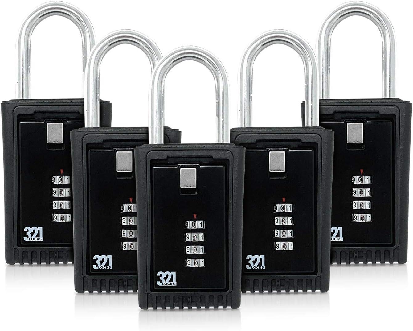 les chantiers les /écoles le travail Bo/îtier de s/écurit/é LB-003 Code de s/écurit/é /à 4 chiffres le bureau mini-coffre pour stockage de clefs et cadenas pour porte ou cl/ôture Pour la maison