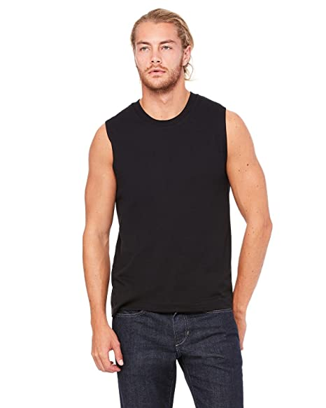 79c19e0908cb1 By Bella + Canvas Unisex Jersey Muscle Tank - Black - M - (Style   3483 -  Original Label) at Amazon Men s Clothing store
