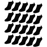 sockenkauf24 10 bis 50 Paar Comfort Sneaker Socken Schwarz & Weiß Damen & Herren