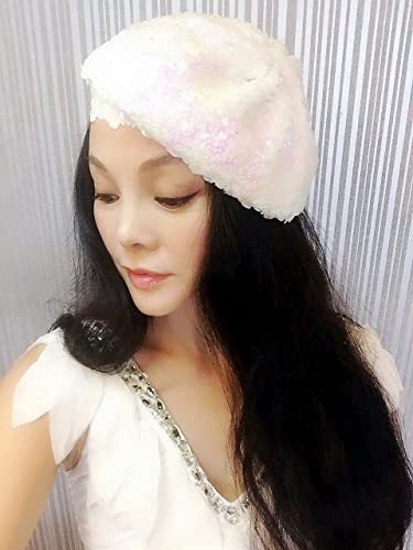 773c3bb7243bb Amazon.comBest Choice And Best DiscountsWhite Pink Sequin Beret