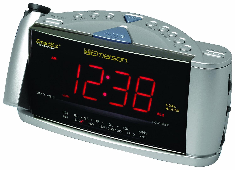 Amazoncom Emerson CKS3528 SmartSet Projection Clock Radio