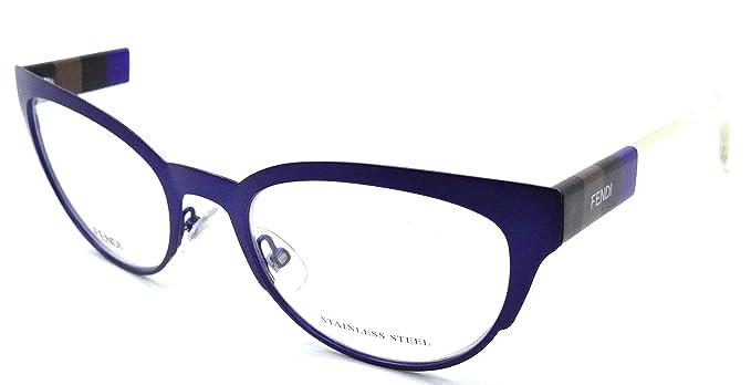 a87abd6b5bad Amazon.com  Fendi Rx Eyeglasses Frames FF 0081 E3E 52-20-140 Matte ...