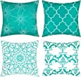 Fascidorm Throw Pillow Covers Modern Decorative Throw Pillow Case Cushion Case for Room Bedroom Room Sofa Chair Car 18 x 18 Inch