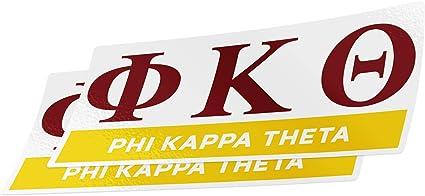 Color//Letter Name Sticker Desert Cactus Phi Kappa Theta 2-Pack Color Letter//Name Sticker Decal Greek for Window Laptop Computer Car phi kap