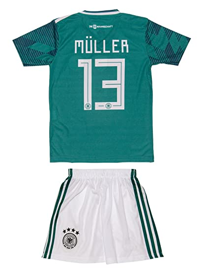 c7a117e87d15 Soccer Youth Jersey Set ○ Germany ○ Home Jersey ○ World Cup 2018 ○   13  Müller     1 Neuer     5 Hummels     10 Ozil (12-13 ages ○ XX-Large