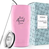 KEDRIAN Aunt Tumbler 20 oz, Best Aunt Ever Gifts, Metal Straw & Cleaning Brush Included, Gifts For Aunt, Aunt Mug, Auntie Gif