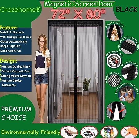 Magnetic Screen Door 72w X 80h For French Doorssliding Glass