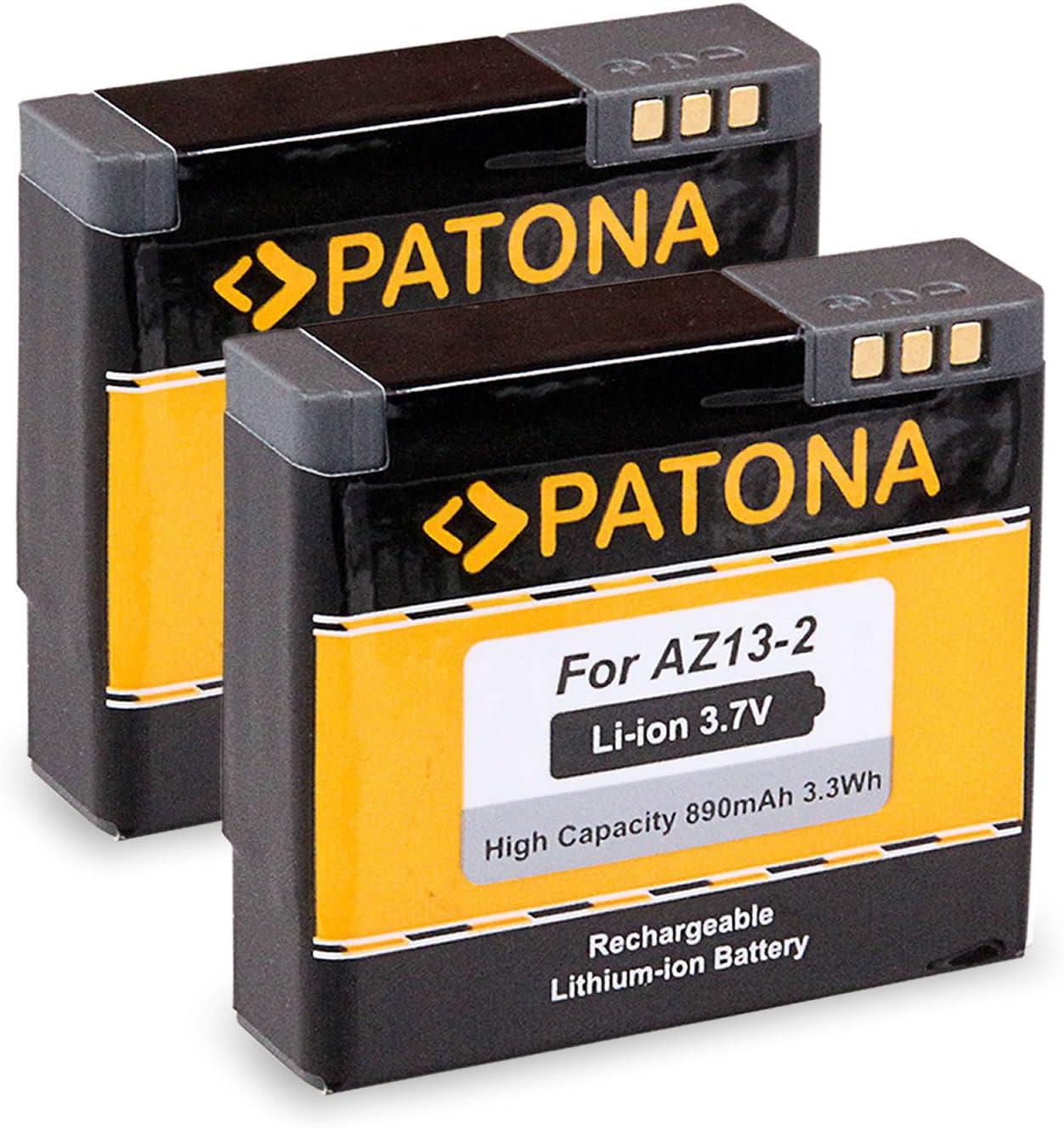 PATONA 2X Bateria AZ13-2 Compatible con Xiaomi Yi Xiaoyi YDXJO1XY, de Calidad Probada y fiable
