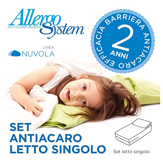 14 opinioni per Set Antiacaro Allergosystem: coprimaterasso Antiacaro con cerniera per letto