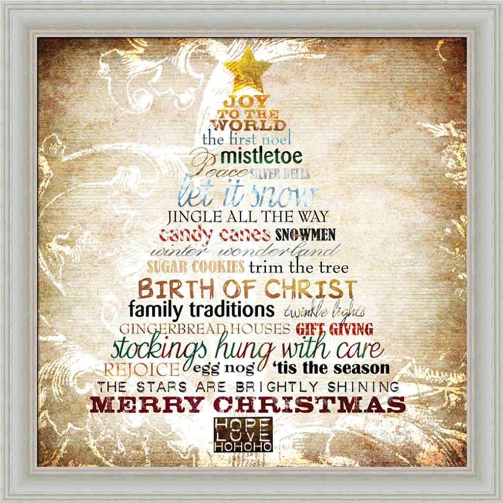 Amazon.com: Christmas Tree Subway Art Sally Barlow Holiday Sign 13.5 ...