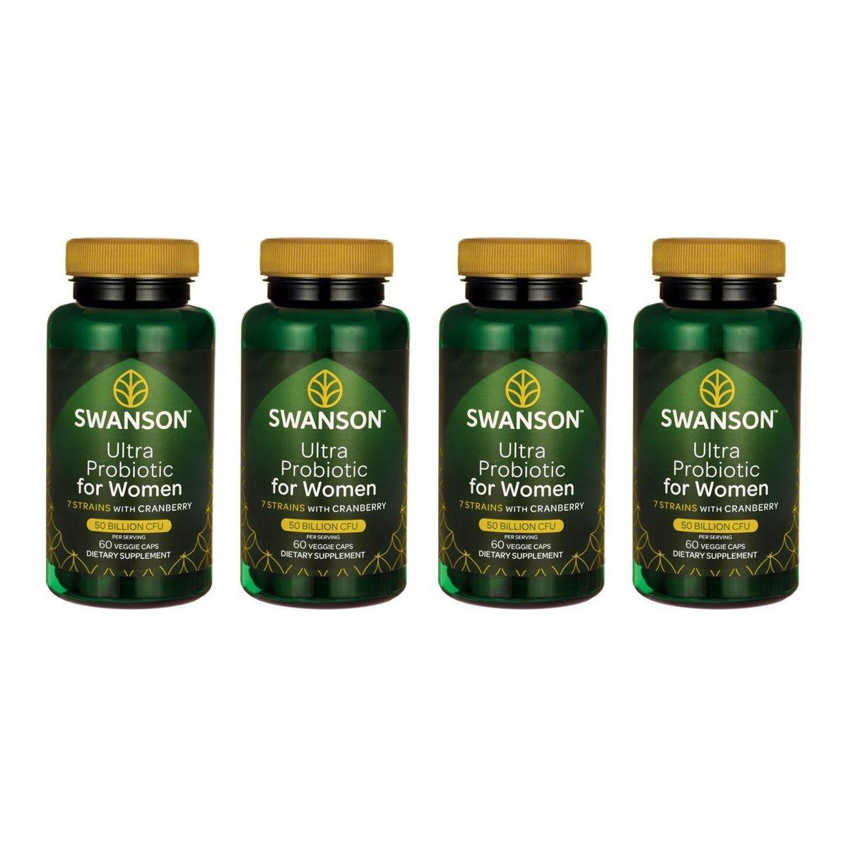 Swanson Ultra Probiotic for Women 25 Billion Cfu 60 Veg Caps 4 Pack