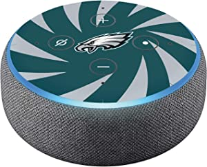 Head Case Designs Officially Licensed NFL Team Colour Stripes Philadelphia Eagles Matte Vinyl Sticker Skin Decal Cover Compatible with Amazon Echo Dot (3rd Gen)