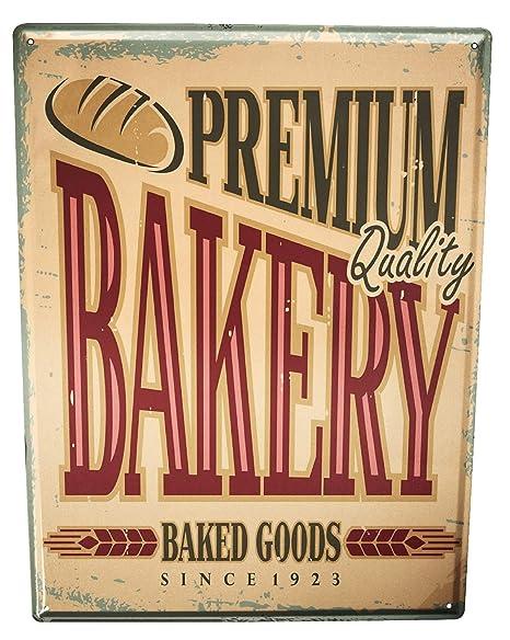 Cartel Letrero de Chapa XXL Retro Premium de Baker: Amazon ...