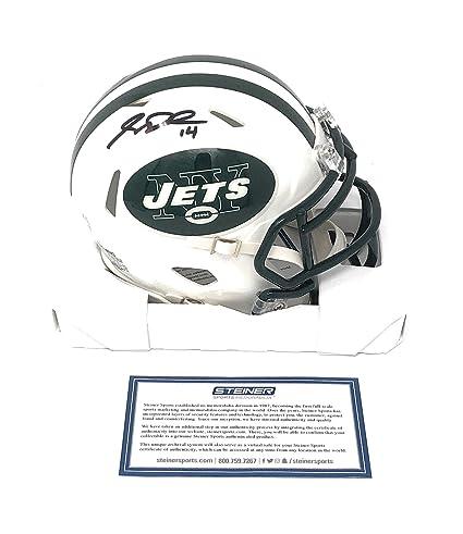 Sam Darnold New York Jets Signed Autograph Speed Mini Helmet  14 Insc  Steiner Sports Certified efbbc6d04