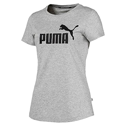 84111aca Amazon.com : PUMA Women ESS Essential Logo Tee gray T-shirt 851787 ...