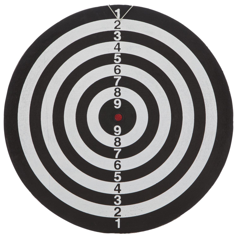 in 2 Farben R/ückseite Zielscheibe MABAMAHO Dartscheibe 37 cm mit 6 Darts Metall