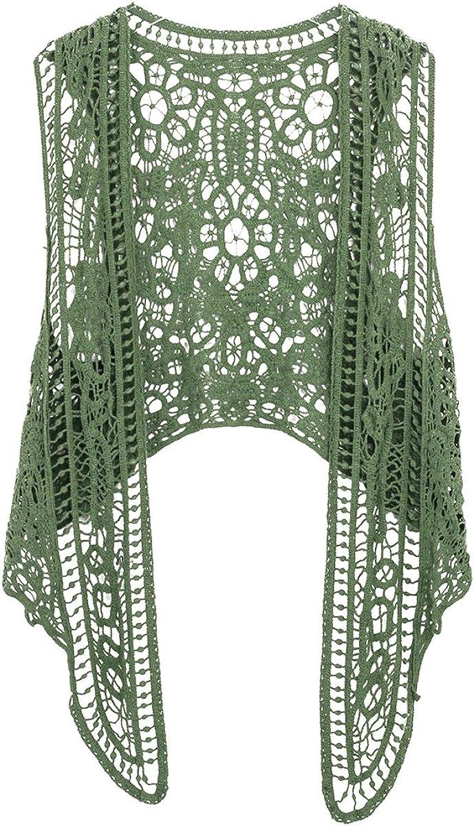 Hippie Dress | Long, Boho, Vintage, 70s Pirate Curiosity Open Stitch Cardigan Boho Hippie Crochet Vest  AT vintagedancer.com