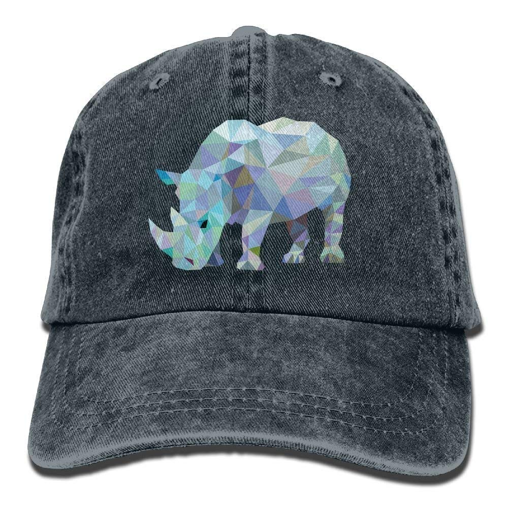 Rhinoceros Denim Baseball Caps Hat Adjustable Cotton Sport Strap Cap for Men Women JTRVW Cowboy Hats