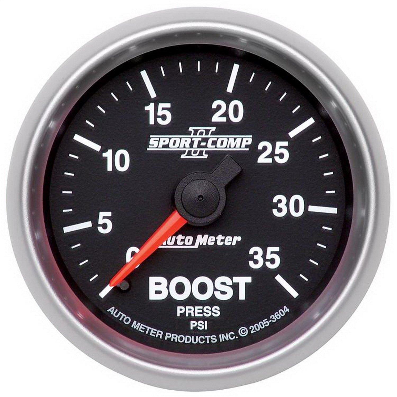 Auto Meter 3604 Sport-Comp II 2-1/16' 0-35 PSI Mechanical Boost Gauge