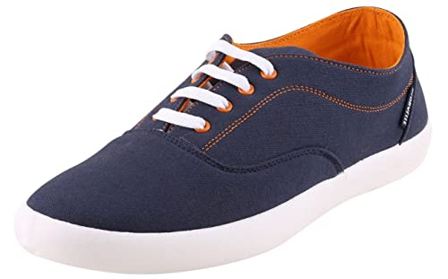 aa9628a551e Globalite Men s Enigma Casual Shoes Navy Canvas Sneakers (8)  Buy ...